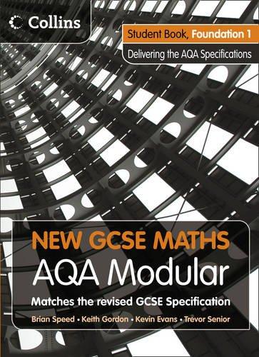 9780007340026: New GCSE Maths - Student Book Foundation 1: AQA Modular