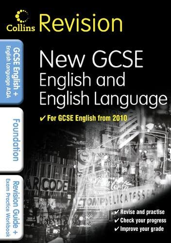 9780007341009: Collins GCSE Revision: GCSE English & English Language for AQA: Foundation: Revision Guide and Exam Practice Workbook