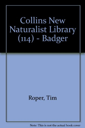 9780007350049: Badger (Collins New Naturalist Library, Book 114)
