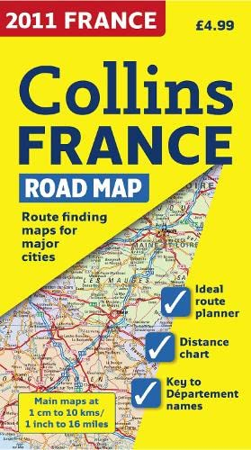 9780007364114: 2011 Collins Map of France