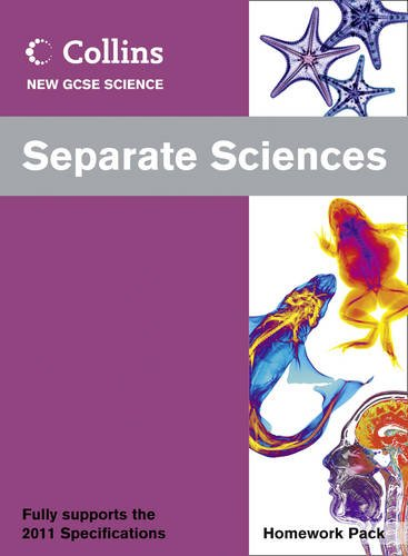 9780007415335: Collins New GCSE Science - Separate Sciences Homework Pack