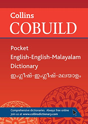 Collins Cobuild Pocket English-English-Malayalam Dictionary.: Collins