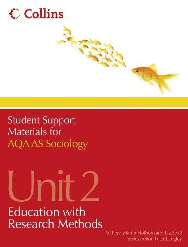 9780007418329: Student Support Materials for Sociology - AQA AS Sociology Unit 2: Education with Research Methods