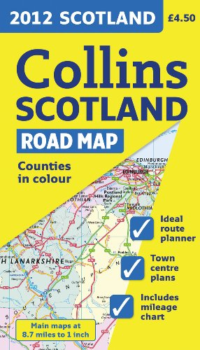 9780007427413: 2012 Collins Scotland Road Map (International Road Atlases)