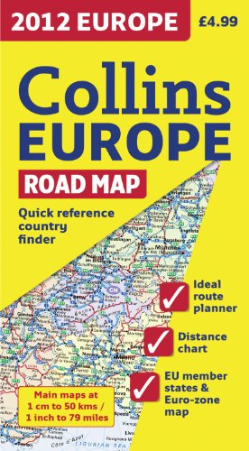 9780007438402: 2012 Collins Europe Road Map