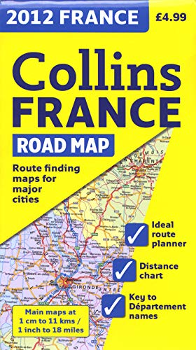 9780007438419: 2012 Collins France Road Map (International Road Atlases)