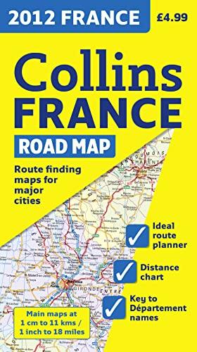 9780007438419: 2012 Collins France Road Map (International Road Atlases)