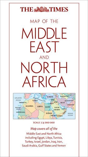 9780007438556: The Times Map of The Middle East and North Africa