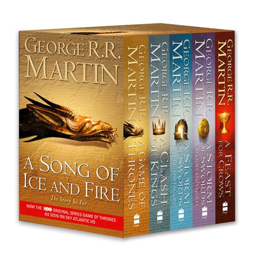 9780007448043: A Song of Ice and Fire, Books 1-4 (A Game of Thrones/A Clash of Kings/A Storm of Swords/A Feast For Crows)