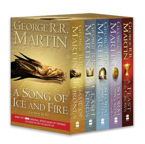9780007448043: A Game of Thrones: The Story Continues: A Song of Ice and Fire: Volumes 1-4 (A Game of Thrones / A Clash of Kings / A Storm of Swords: Steel and Snow ... Swords: Blood and Gold / A Feast for Crows)