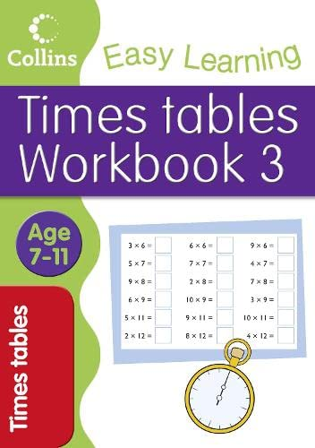 9780007449842: Times Tables Workbook 3 (Collins Easy Learning Age 7-11)