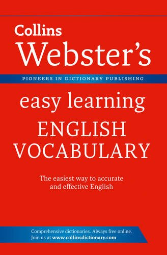 9780007450541: Collins Webster's Easy Learning English Vocabulary.
