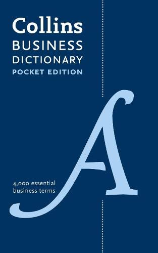 9780007454204: Collins Pocket Business English Dictionary (Collins Cobuild Pocket Diction)