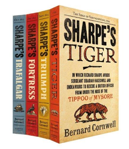 9780007464937: Sharpe Four Book Set: Sharpe?s Tiger, Sharpe?s Triumph, Sharpe?s Fortress, Sharpe?s Trafalgar