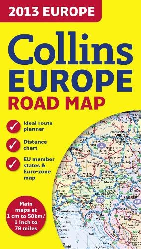 9780007478972: 2013 Collins Map of Europe (Road Map)