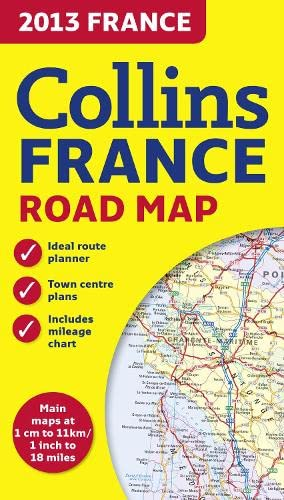 9780007478989: 2013 Collins Map of France (Road Map)