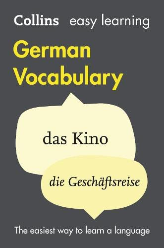 9780007483921: Easy Learning German Vocabulary (Collins Easy Learning German) (German and English Edition)