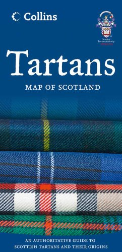 9780007485888: Tartans Map of Scotland (Collins Pictorial Maps)