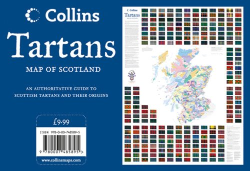 9780007485895: Tartans Wall Map of Scotland (Collins Pictorial Maps)