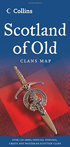9780007485901: Scotland of Old: Clans Map of Scotland (Collins Pictorial Maps)