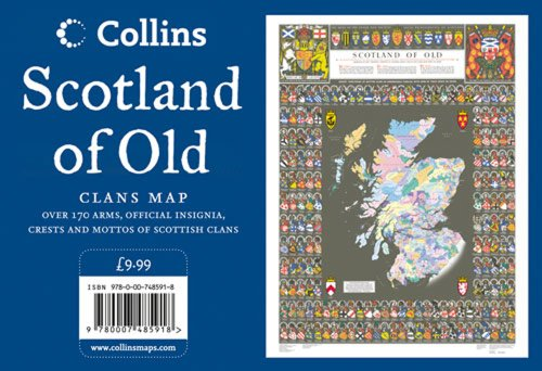 9780007485918: Scotland of Old Wall Map: Clans Map of Scotland (Collins Pictorial Maps)