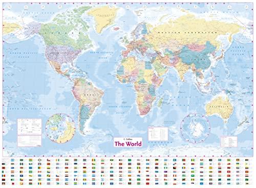 9780007493104: Collins World Wall Laminated Map (World Map)