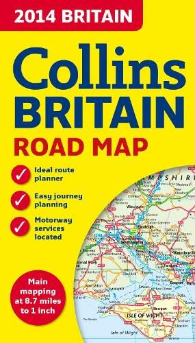 9780007497119: 2014 Collins Map of Britain (Collins Road Map)