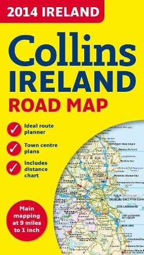 9780007497126: 2014 Collins Map of Ireland (Collins Road Map)