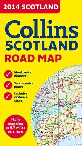 9780007497140: 2014 Collins Scotland Road Map