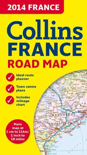 9780007498222: 2014 Collins Map of France (Road Map)