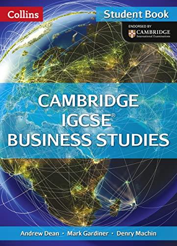 9780007507054: Cambridge IGCSE Business Studies Student Book (Collins IGCSE Business Studies)