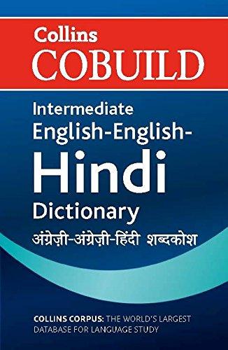 9780007510801: Collins Cobuild Intermediate English-English-Hindi Dictionary
