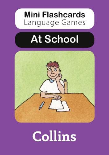9780007522392: At School (Mini Flashcards Language Games)