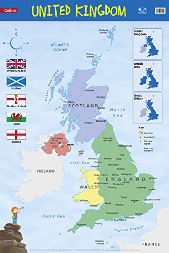 9780007536122: United Kingdom: Wall Map (Collins Primary Atlases)