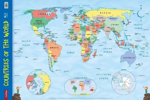 9780007536139: Countries of the World: Wall Map (Collins Primary Atlases)