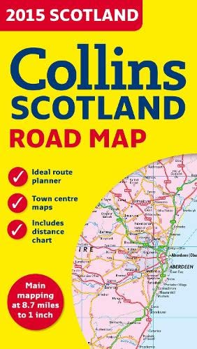 9780007544035: 2015 Collins Map of Scotland (Road Map)