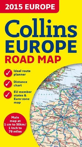 9780007581177: 2015 Collins Map of Europe (Collins Road Map)