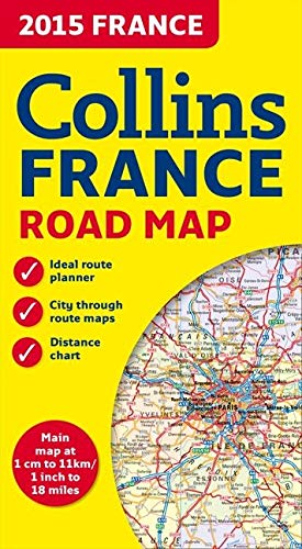 9780007581184: 2015 Collins Map of France (Collins Road Map)