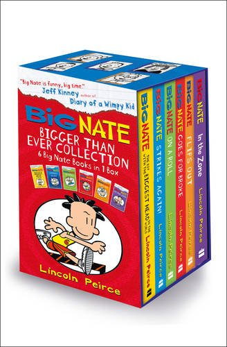 9780007589043: Big Nate Series Collection Lincoln Peirce 6 Books Box Set Gift Pack (Big Nate on a Roll, Goes for Broke, the Boy with the Biggest Head in the World, Strikes Again, Flips Out, in the Zone)
