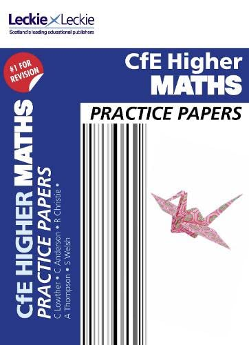 9780007590919: Cfe Higher Maths Practice Papers for Sqa Exams