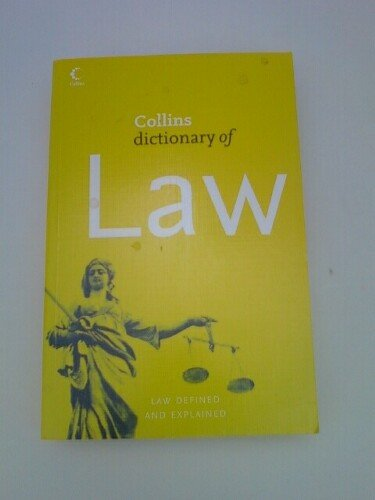 9780007800841: Collins Dictionary of Law