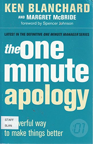9780007811311: The One Minute Apology