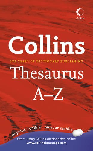 9780007849338: Collins Thesaurus A-Z: Home Edition