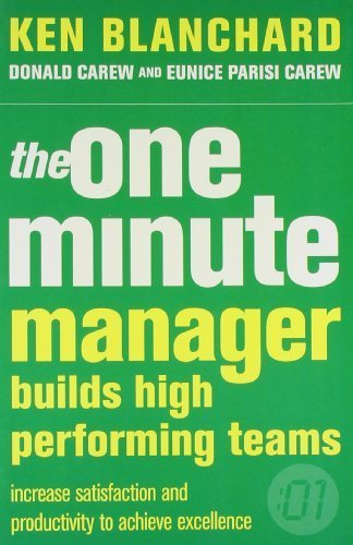 9780007853083: One Minute Manager Builds High Performing Teams