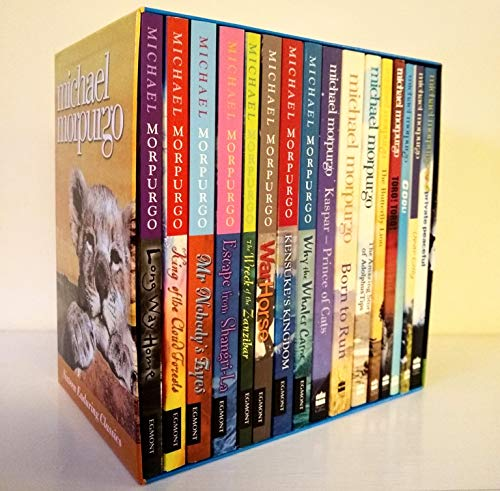 9780007875146: Michael Morpurgo Box Set - 16 Books RRP £ 84.99: Why the Whales Came, Mr Nobody's Eyes, Kensuke's Kingdom, Long Way Home, Escape from Shangri-La, Dear Olly, Toro! Toro!, Cool!, The Butterfly Lion, Private Peaceful (WarHorse, The Wreck of the Zanzibar, King of the Cloud Forests, Kaspar Prince of Cats, Born to Run & The Amazing Adventures of Adolphus Tips)