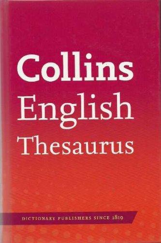 9780007897834: Collins English Thesaurus