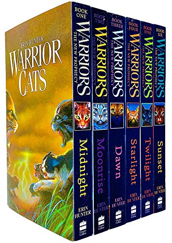 9780007931057: Warrior Cats Collection 6 Books Gift Set Pack (Midnight, Moonrise, Dawn, Starlight, Twilight, Sunset)