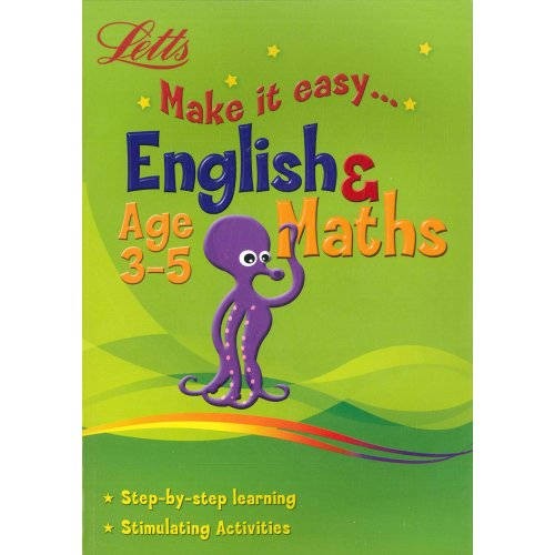 9780007933501: Letts Make It Easy English And Maths Ages 3-5