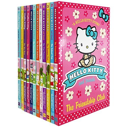 9780007940554: Hello Kitty and Friends 12 Books Collection Gift Set Pack By Linda Chapman and Michelle Misra, (The Friendship Club, The School Trip, The Summer Fair, The Pop Princess, The Wedding Day, The Beach Holiday, The Treasure Hunt, The Talent Show..