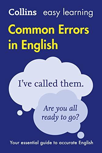 9780008101763: Collins Common Errors In English